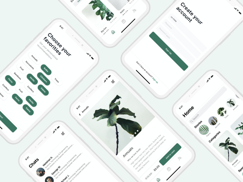 Plant Shopping App UI&UX Design freebie free dark mode plant user interface user experience application uidesign mobile design ux ui app