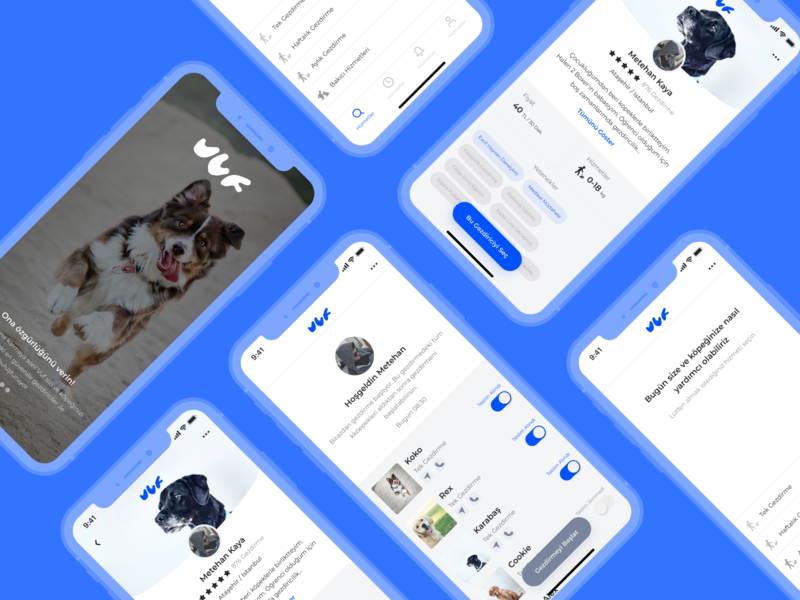 Dog Walking App UI Design community freebies free figma redesign user interface user experience application uidesign mobile ux ui design app