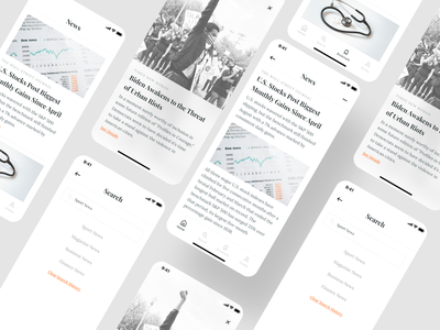 News Application UI Design clean minimalist minimal ios newsfeed newspaper news app newsletter news redesign user interface user experience application uidesign mobile app ux ui design