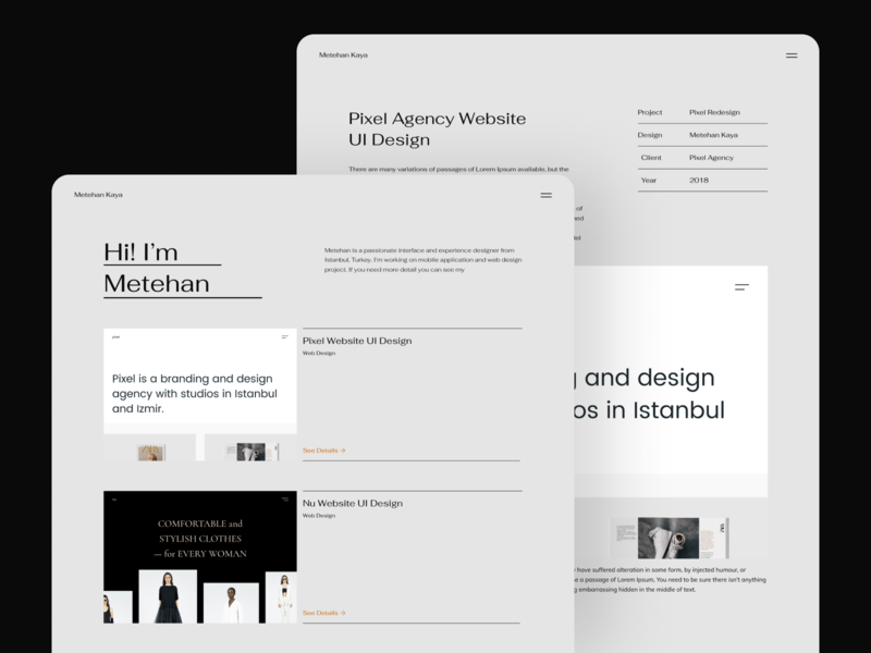 Personal Portfolio Website clean interface layout grid identity branding personal portfolio portfolio typography font landing page user experience user interface ux uidesign ui design