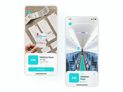 AR Seat Finder Application ios applicaiton flying augmented reality redesign application user experience mobile app user interface ux uidesign ui design
