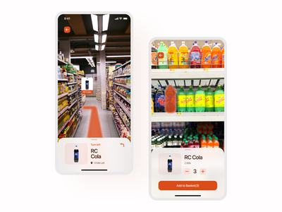 Augmented Reality Shopping Application market shopping augmentedreality ar redesign application user experience mobile app user interface ux ui uidesign design