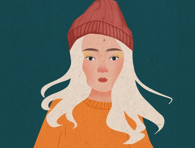 The girl design web branding art illustration