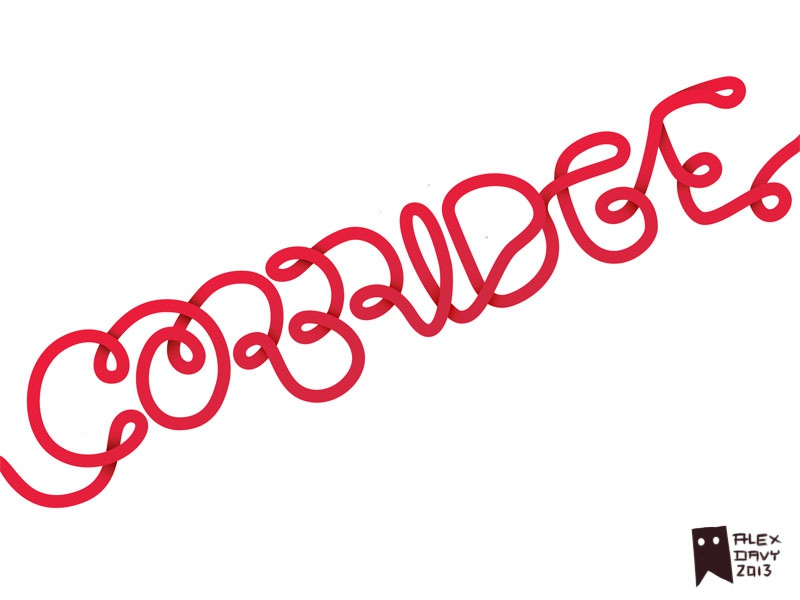 Corbridge lettering debut lettering cable cables wip vector simple continuous unified red coral
