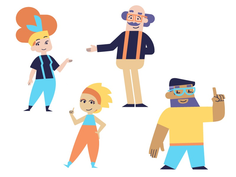 Movabl app illustrator flat digital ui simple clean brand animation app health character diabetes