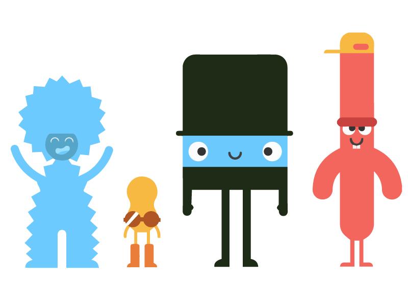 Unused dudes simple illustrator flat character clean branding ios app