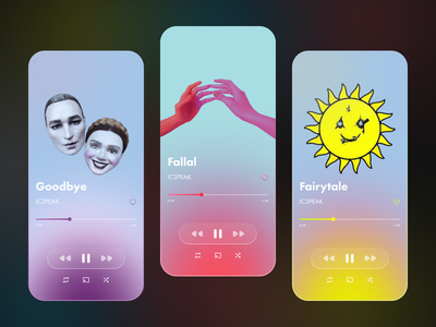 Music App Concept concept graphic design typography figma colorful design app ui glassmorphism