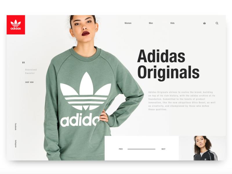 Day4: Adidas Originals Landing ux design ecommerce design ecommerce landing page adidas ui design