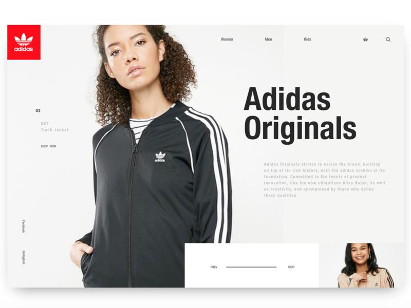 Adidas Originals Landing Page 2 landing page web design ux design adidas ecommerce invisionstudio ui design