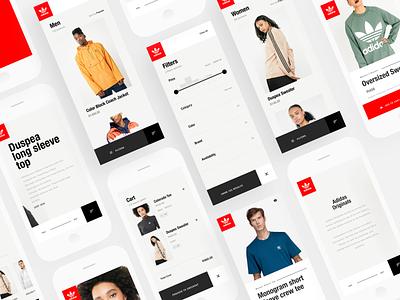 Adidas Originals Cart iphone mobile ios ux design ecommerce app adidas web design invision studio ui invisionstudio design