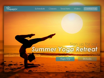 Landing Page for a Yoga Website