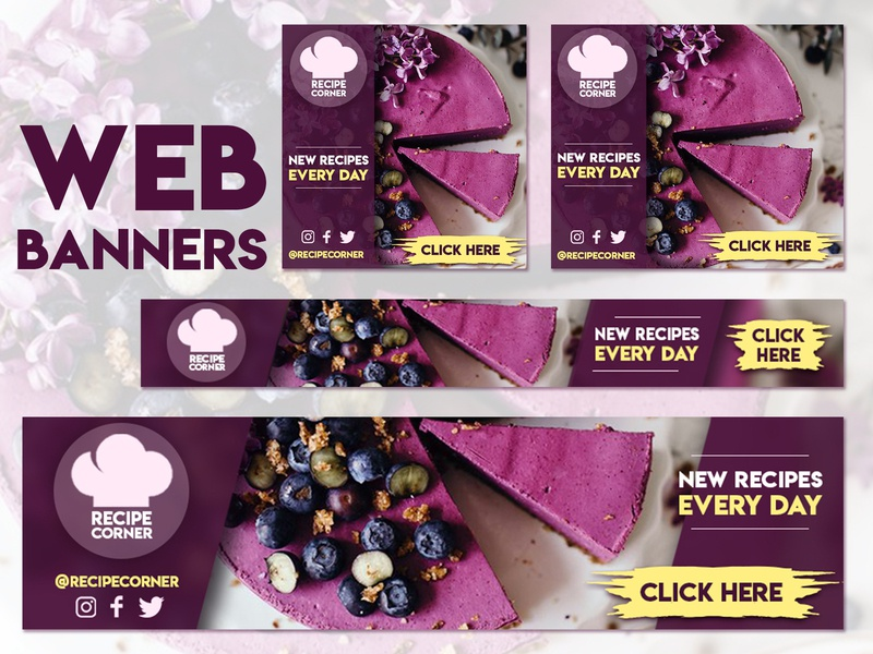Static Web Banners - Food App web banners web banner design banners banner design banner ads banner ad banner