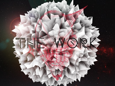 The Work CD Cover cinema 4d c4d 3d atom array render photoshop cd cover music