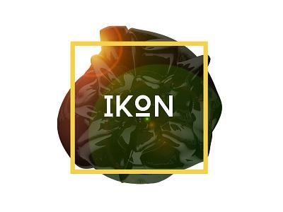 IKON Book cover cinema 4d c4d 3d atom array render photoshop