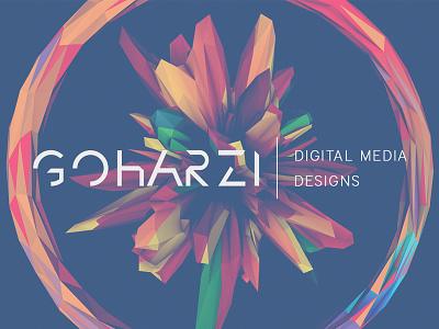 GOHARZI   Digital Media Designs Logo cinema 4d c4d 3d atom array render photoshop