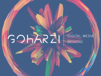 GOHARZI | Digital Media Designs Logo cinema 4d c4d 3d atom array render photoshop