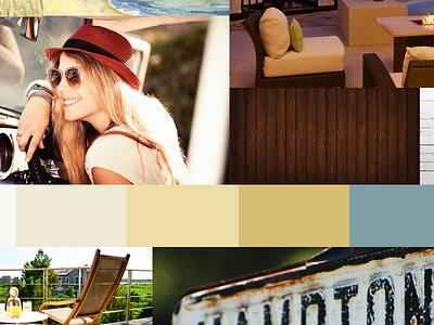 Dune Resorts Moodboard moodboard color textures typography mood board