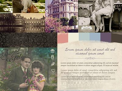 Moodboard for Castle moodboard color textures typography mood board castle resort vintage weddings organic hotel