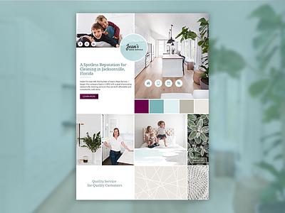 Moodboard for Jean's Maid Service design visual design mood board style guide moodboard website