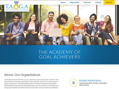 TAOGA Website Design nonprofit non-profit web design ui ux website
