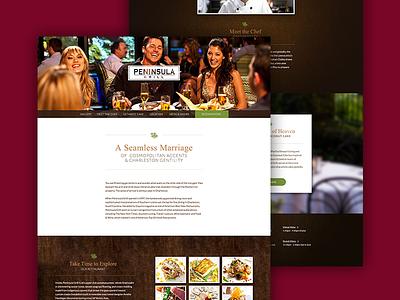 Peninsula One Page Website web design texture restaurant ux design ui design ux ui web design website