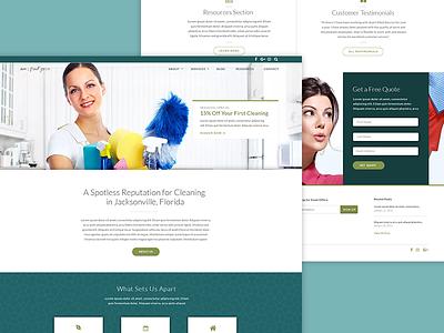 Jeans Clean Team Website web design cleaning brand visual design ui design ux design ux website ui