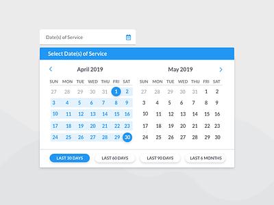 Date Picker calendar date picker ui  ux ui web design ui pack