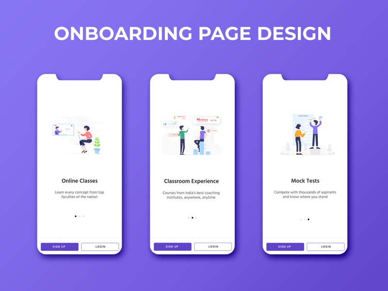Onboarding Page Design | Pariksha onboarding edtech onboarding ui onboarding illustration onboarding screens illustration mobile ui design