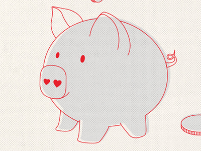 8th Birthday pig piggy cute illustration offset halftone infograph infographic
