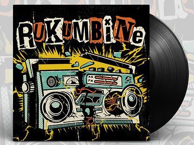 Rukumbine Album Art lettering art album cover art albumartwork album cover music design record punkrock ska music vector typography design illustration