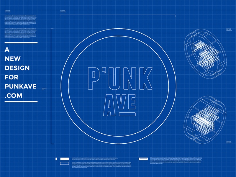 Taking Keynote Cover Slides Seriously punk avenue blueprint 3d keynote slide presentation