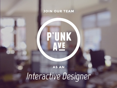 We're Hiring! interactive designer jobs