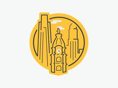 Something About Urbanism philadelphia badge icon skyline