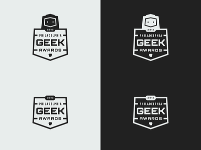 Logo Update logo branding philadelphia geek awards robot