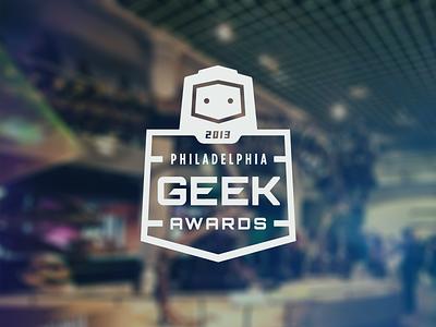 Logo Update Round 2 logo branding philadelphia geek awards robot