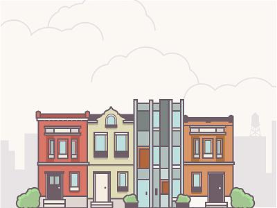 Philadelphia Is Changing building illustration line art philadelphia rowhome urbanism city philly