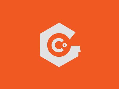 Nuts & Bolts branding logo identity type orange white hexagon
