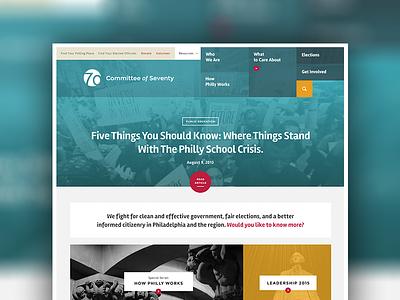Translucent Website for Transparent Gov't ui website interface navigation menu rejected