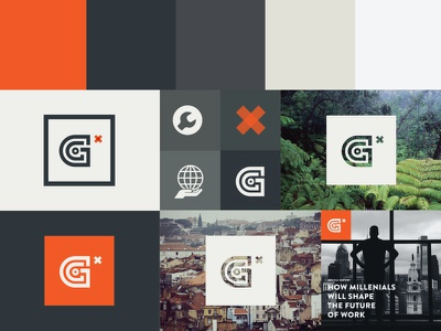 An Adventure branding logo identity type orange white system style guide