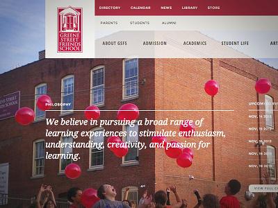 Greene Street Friends School school interface web design apostrophe responsive