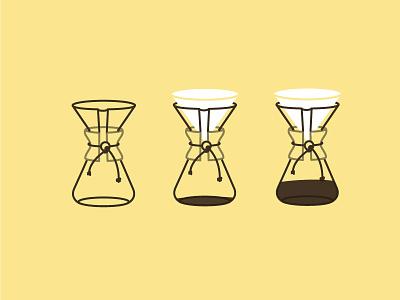 Coffee Talk coffee chemex illustration instructional