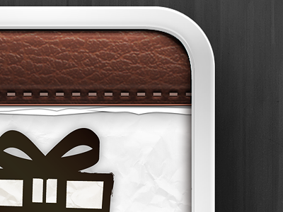 Gift App Icon leather paper icon iphone app