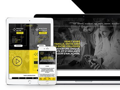 ESCAPE DU BASSIN - Branding / Webdesign / Game design / Print motion design vector logo graphisme print direction artistique ui design ux design webdesign game design branding