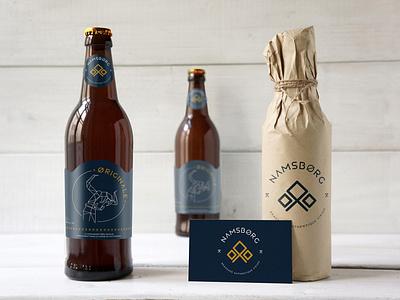 NAMSBORG - Branding - Packaging - Illustration polygon art kraft mark identity branding bottle viking viking logo graphic design branding illustration art direction beer label beer branding package design packaging