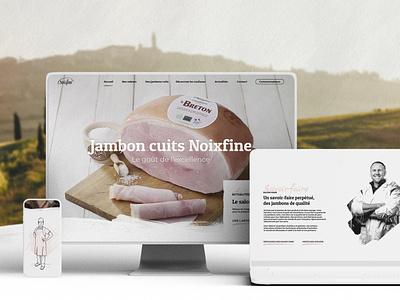 NOIXFINE - Branding - UX/UI Design - Illustration webdesign graphisme responsive design pig ham food butcher branding art director ui design ux design illustration