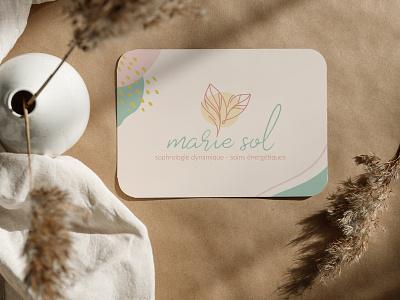 Marie Sol - Branding identity businesscard health design print direction artistique graphisme logo logodesign branding