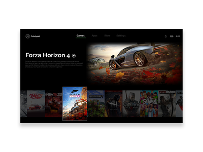 Xbox Series X - UI Design xbox xbox series x web uxdesign ux uiux ui design uidesign ui design branding