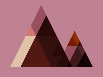 Pink and brown triangle mountain mashup