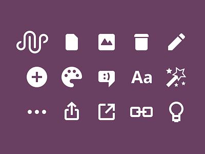 Mesh Icons solid logo icons
