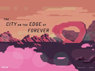 The City on the Edge of Forever retro texture poster star trek